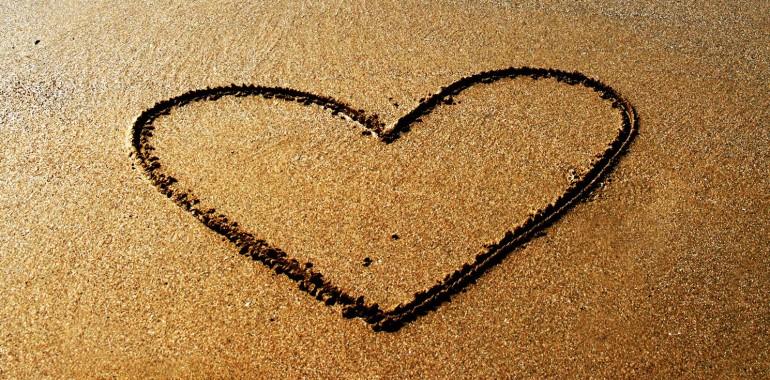 Srce v pesku